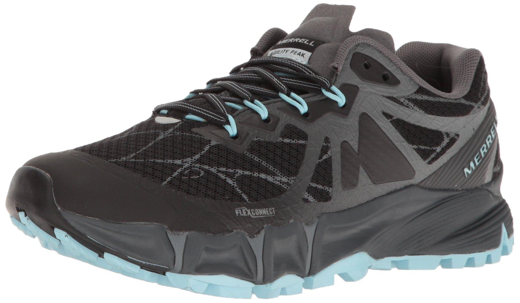 Merrell Women's Agility Peak Flex Trail Runner, Black, 8.5 M US