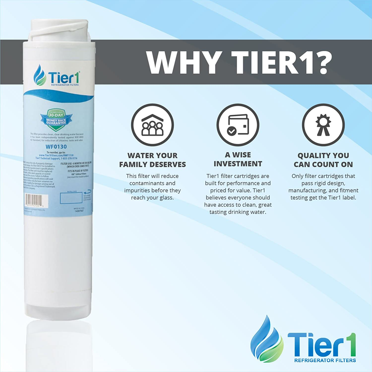 Tier1 Replacement for GE GXRLQR Inline Water Filter 3 Pack