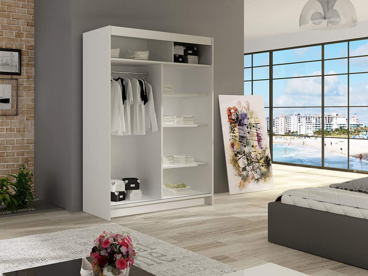 Schwebet/ürenschrank Miami II Modernes Kleiderschrank Schlafzimmer Schiebet/ürenschrank Schlafzimmerschrank Choco