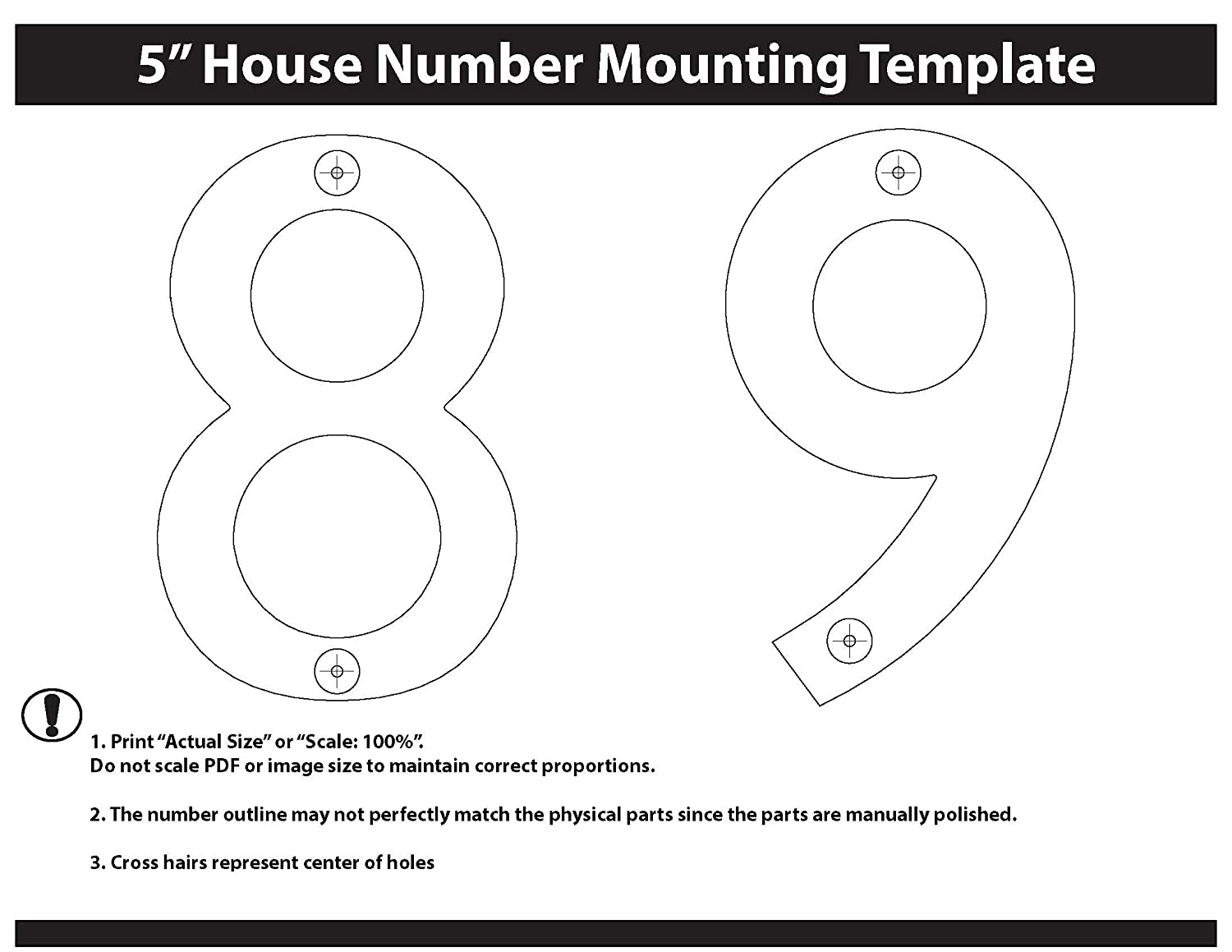 Architectural Mailboxes 3585B-9 5 in Black Brass Floating House Number 9