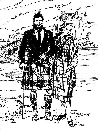 Amazon.com: Folkwear Scottish Kilts #152 Sewing Pattern (Pattern ...