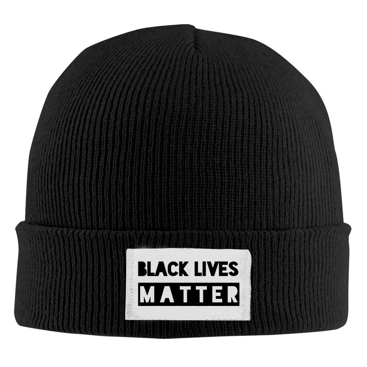 Stretchy Cuff Beanie Hat Black Dunpaiaa Skull Caps Black Lives Matter 1 Winter Warm Knit Hats