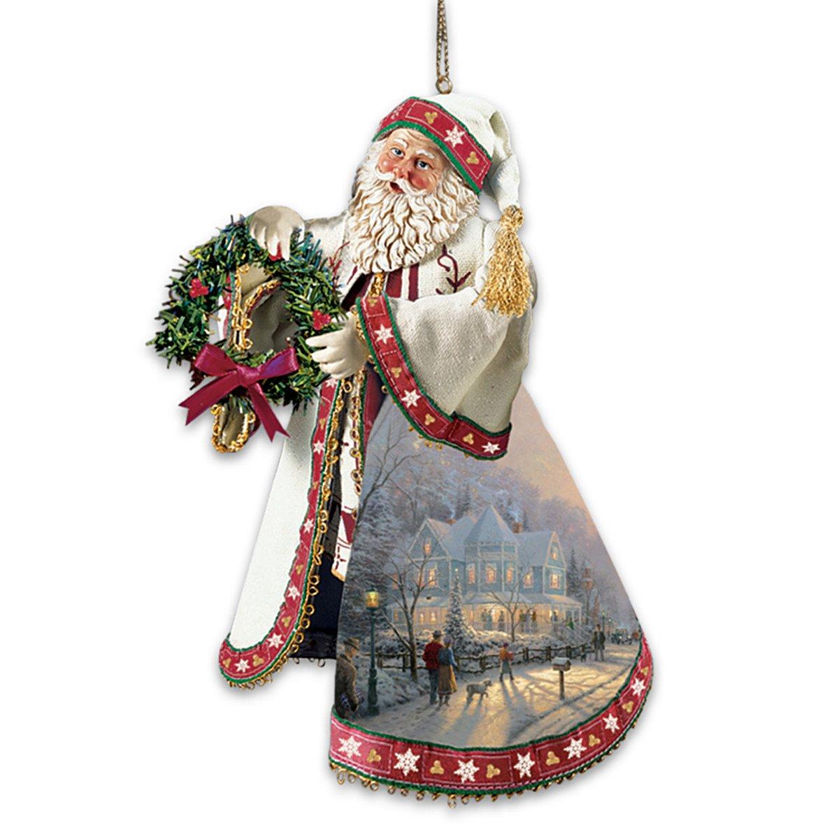 Kinkade christmas ornaments - Amazon Com Thomas Kinkade Santa Claus Heirloom Christmas Ornaments With Artwork Set Of 3 By The Ashton Drake Galleries Home Kitchen