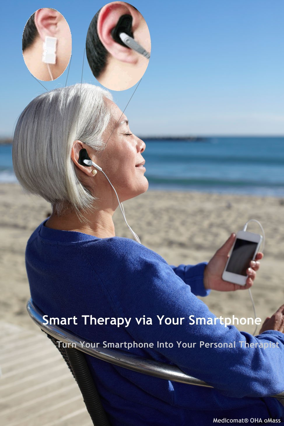 24-7 Mobile Therapist via Your iPhone (Medicomat-1D with Belt Shoulder Neck for iOS iPhone iPad)