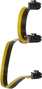 6+2 pin+6 pin PCIE VGA Power Supply Cable 2 pcs  EVGA SuperNOVA  8 PIN TO dual