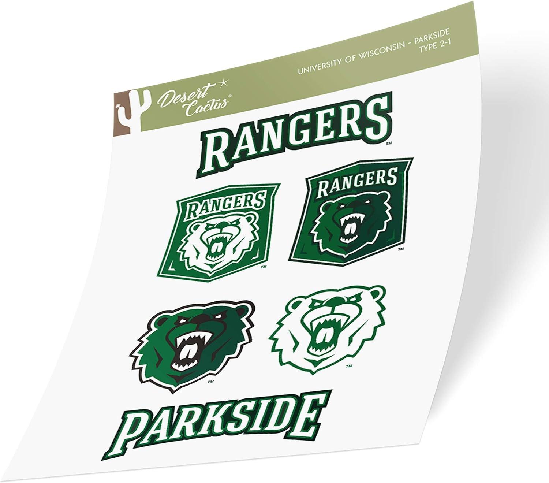 University of Wisconsin Parkside UWP Rangers NCAA Sticker Vinyl Decal Laptop Water Bottle Car Scrapbook (Type 2 Sheet)