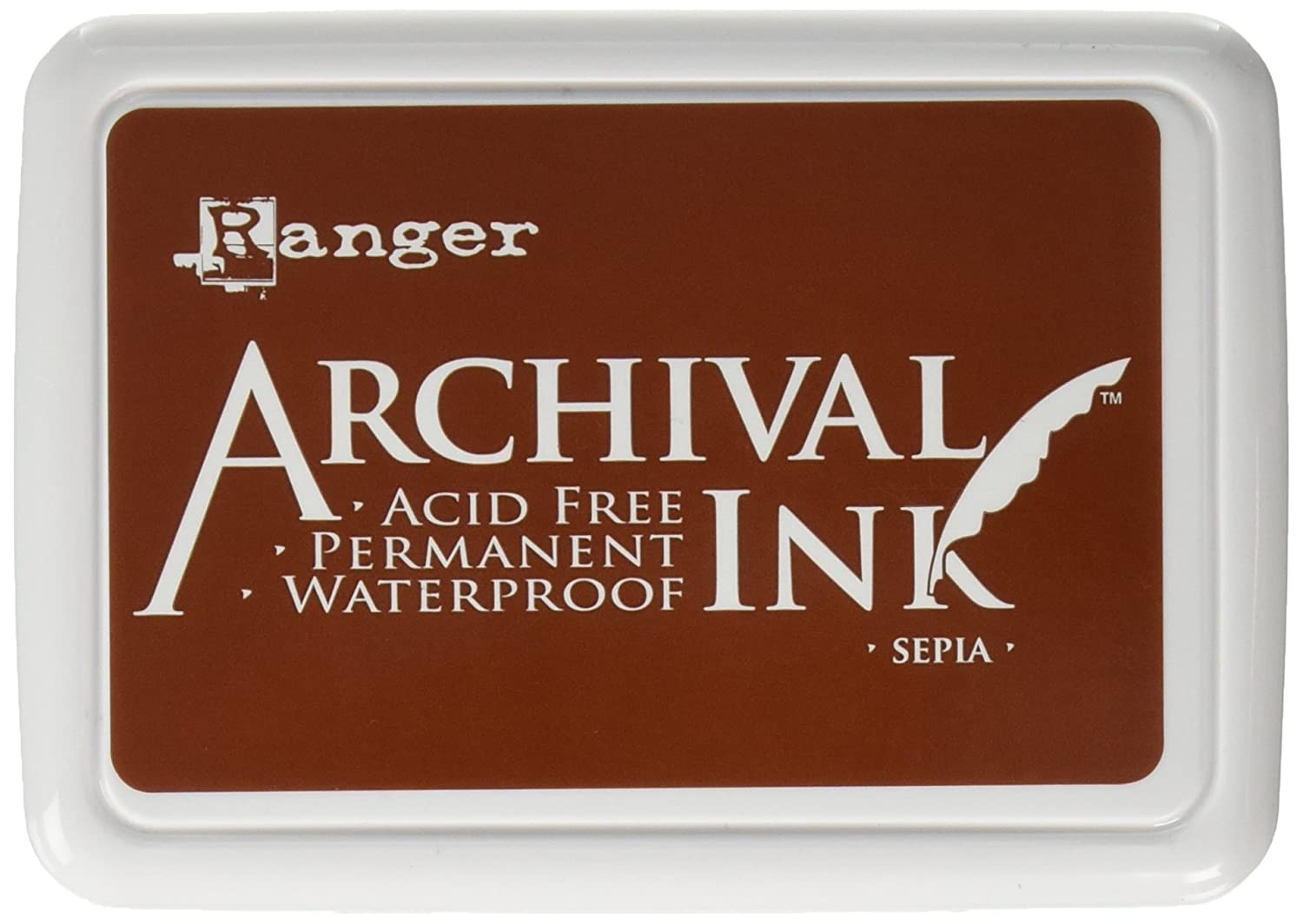 Amazon Ranger Archival Jet Black Permanent Dye Ink Stamp Pad Re Inker Refill Arts Crafts Sewing