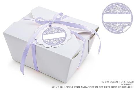 Blanco 10 cajas + 24 en color lila de pegatinas en Vintage Style + Libre