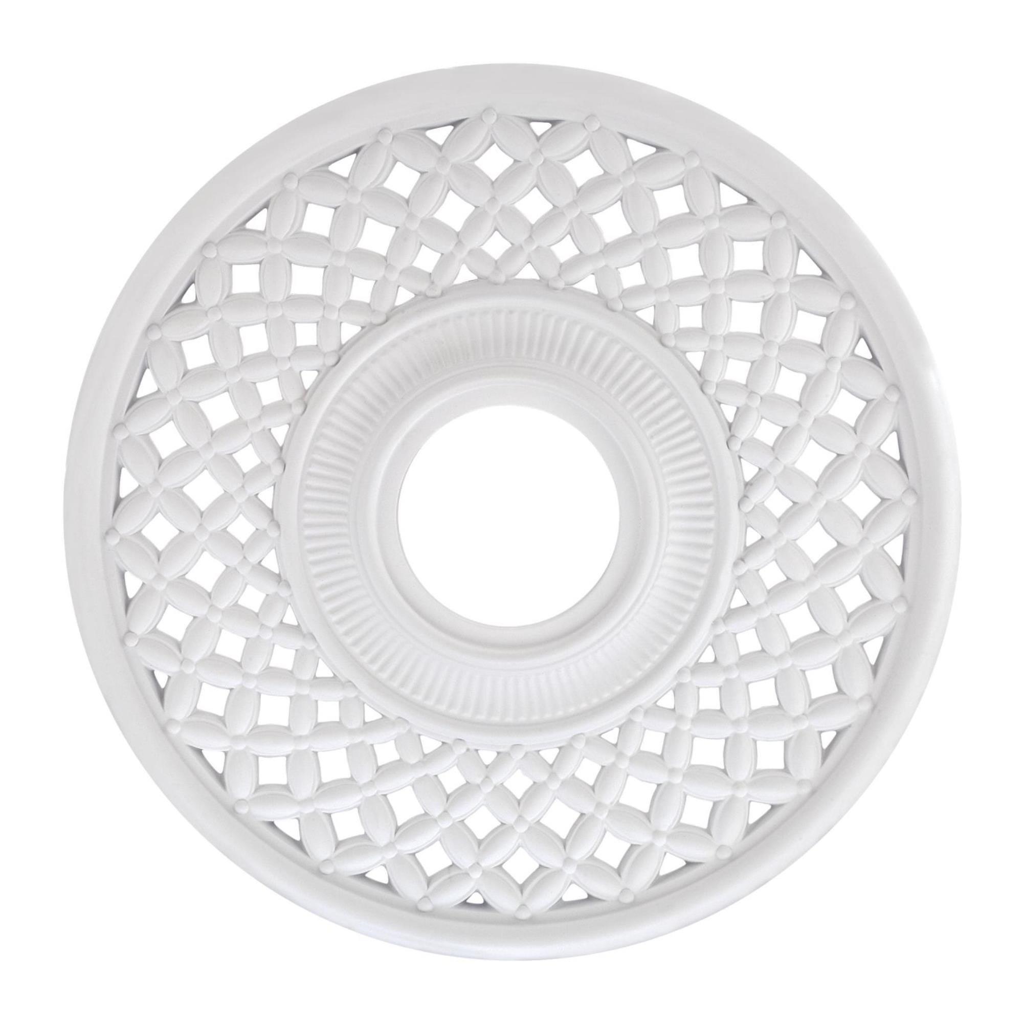 Westinghouse 7771000 12-inch White Finish Botino Ceiling Medallion