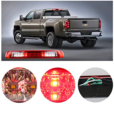 For Silverado/Sierra 1500/2500/ 3500 3rd third brake light Cargo Light High Mount Brake Light Stop Tail Light: Automotive