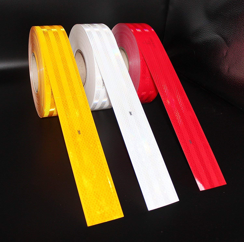 marcatura contorni pellicola retroriflettente autoadesiva per la delineazione dei profili dingombro Colore: giallo Nastro adesivo di sicurezza 3M/™/Diamond Grade/™ 983 larghezza 5,5/cm contrassegno catarifrangente visibilit/&agra