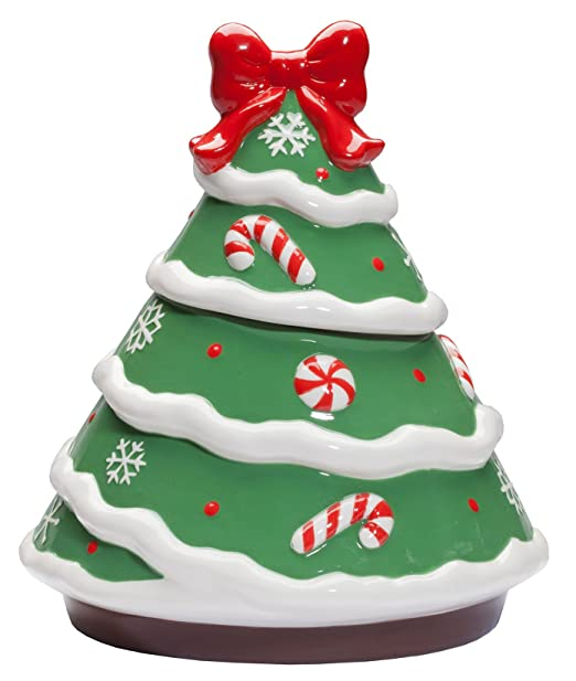 Amazon.com: Ceramic Christmas Tree Cookie Jar: Kitchen & Dining