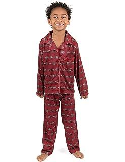Leveret Kids Button Down Pajamas Boys   Girls 2 Piece Christmas Pajama Set (Size  2 fece7190f