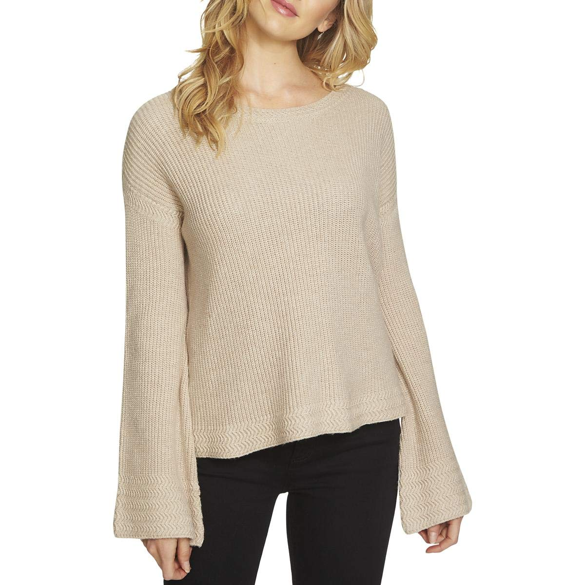 d225f402eed0 1.State Womens Bell Sleeve Sweater w Stitch Detail at Amazon Women s ...