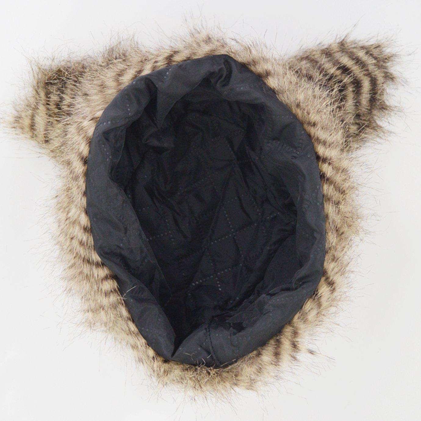 YAOSEN Women Faux Fur Hat with Ears Winter Ear Warmer Earmuff