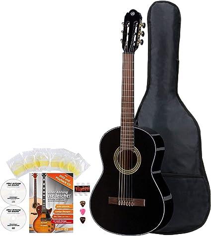 VGS Student - Guitarra de concierto de 3/4 con tapa de abeto y ...