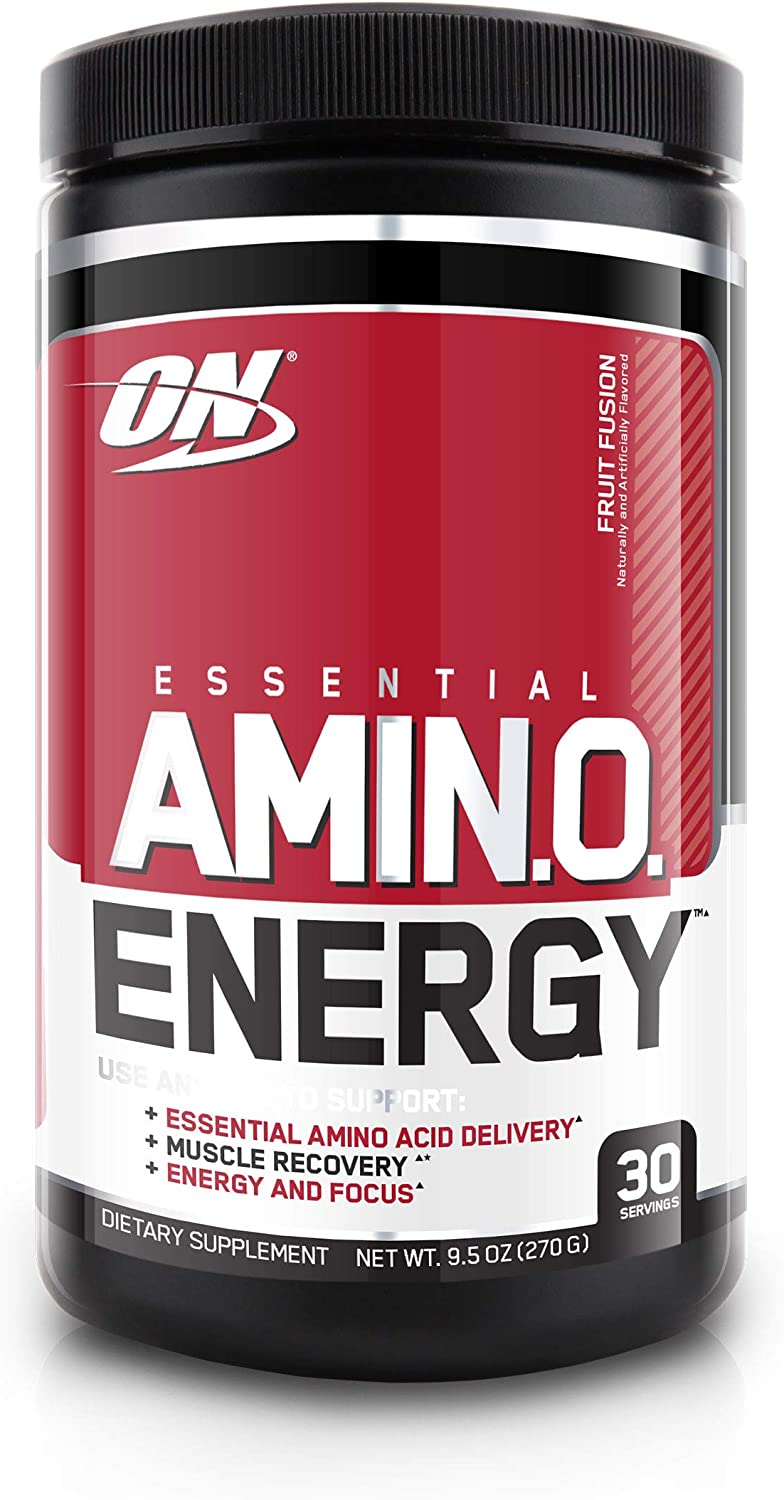 Optimum Nutrition Essential Amino Energy, Fruit Fusion, Keto Friendly Preworkout and Essential Amino Acids with Green Tea and Green Coffee Extract, 30 Servings