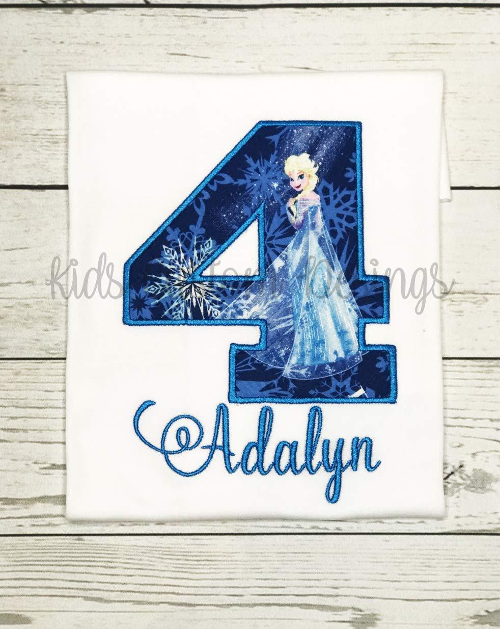fb659e08021f0 Ice Princess Birthday Shirt, Elsa Frozen Birthday Shirt AGES 1-9