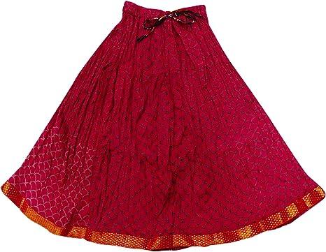 PEEGLI Falda Elegante India Algodón Estampado Patinador Cintura Elástica Bebé Niña Rosa Falda: Amazon.es: Ropa y accesorios