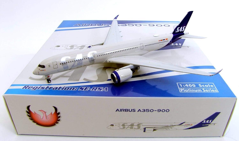 Reg #SE-RSA 2019 New Livery W Phoenix Model PHX11581 1:400 SAS Airbus A350-900 pre-Painted//pre-Built