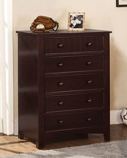 Furniture Of America Oscar  Drawer Bedroom Chest Dark Walnut