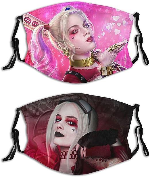 WINTERSUNNY Harley Quinn Face Cover Film Theme Bandana Face Scarf