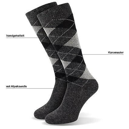 kniestrümpfe - Calcetines de equitación con lana de alpaca en cuadros Diseño de 3 unidades: Amazon.es: Deportes y aire libre