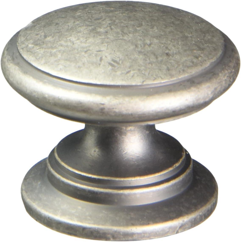 Century Hardware 12816-AP Hartford Solid Brass Knob Pewter