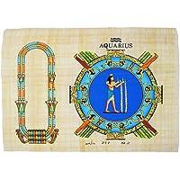 Il segno dello zodiaco o oroscopo con il nome che si desidera in geroglifico su un papiro originale di 23 cm x 33 cm realizzato e dipinto a mano in Egitto. Ci dici il nome al momento dell'ordine