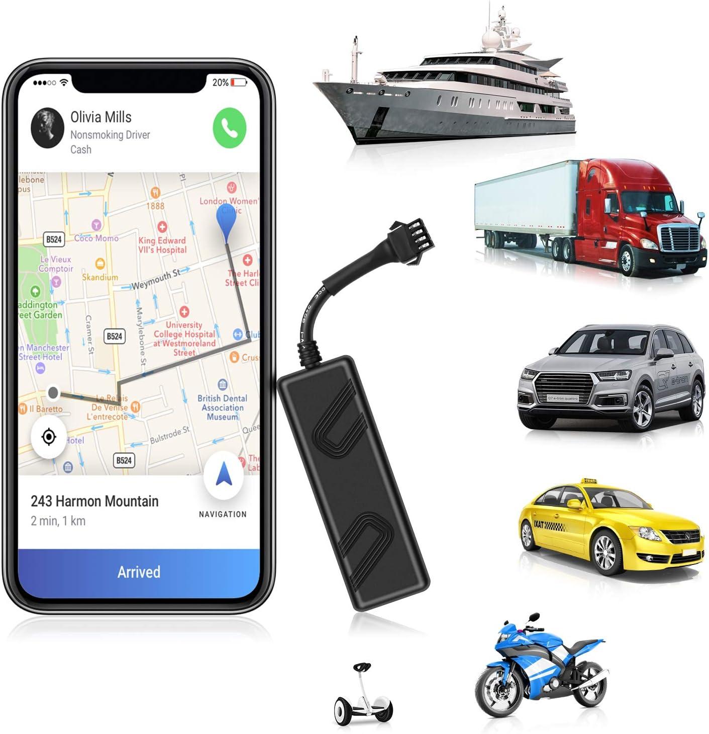 ANKEWAY 2020 New Mini Localizador GPS para Coche Dispositivo de Seguimiento GPS en Tiempo Real Anti Pérdida de 9-90V para Flota/Automóvil/Camión/Motocicleta/RV/Autobús/Segway (App Gratuita)