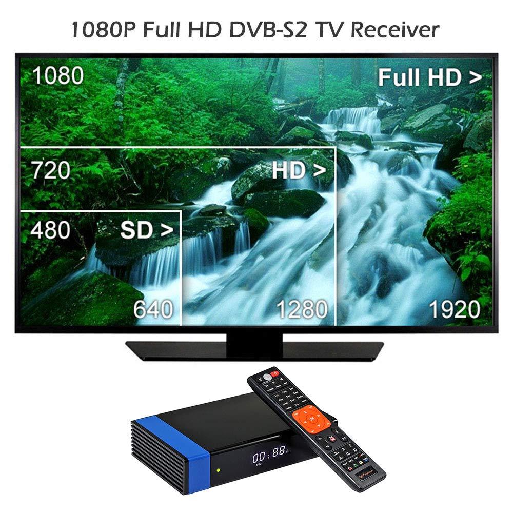 Docooler GTMEDIA V8 NOVA Blue Set Top Box Universal DVB-S2 TV Receiver Digital Video Broadcasting Receiver Full HD 1080P Built-in WiFi Support H.265 EPG by Docooler (Image #5)