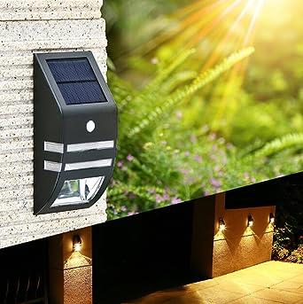 Lámpara LED solar lámpara solar jardín lámpara Ahorra energía solar lámpara blanco cálido resistente al agua exterior IP65 para Exterior Jardín empotrables para suelo: Amazon.es: Iluminación
