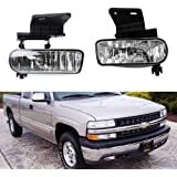 ijdmtoy clear lens fog lights foglamp kit with 880 halogen bulbs w/mounting  brackets for