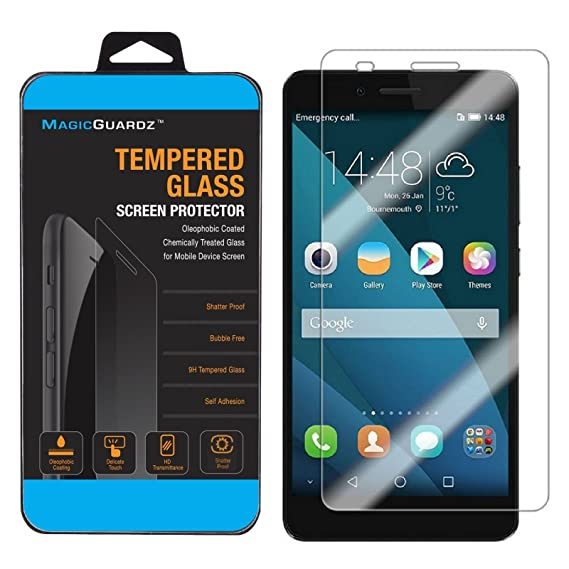 MagicGuardz®, Made for Huawei Honor 5X, Premium Real Tempered Glass Screen  Protector Shield, Retail Box