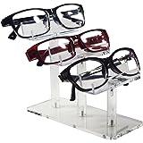 Mooca 3 Tier Acrylic Eyeglasses Frame Stand, Sunglasses Rack, Sunglasses Stand Acrylic Sunglasses Display, Sunglasses Rack Ho
