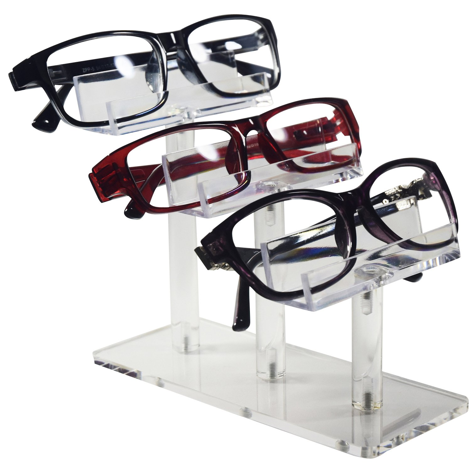 0c96813cc7 Amazon.com  Mooca Acrylic 3 Tier Eyeglasses Sunglasses Pens Stand Holder   Home   Kitchen