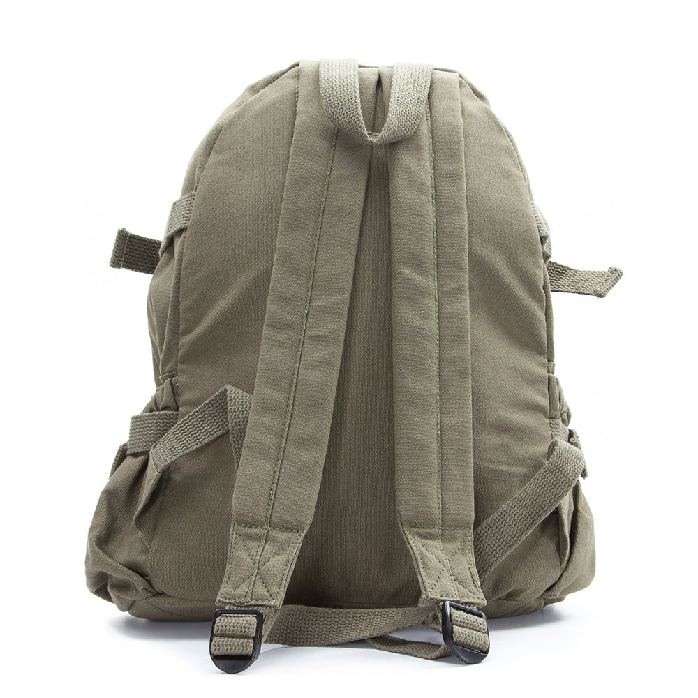 Deathly Hallows Harry Potter Army Sport Heavyweight Canvas Backpack Bag in Black /& White Large Grab A Smile