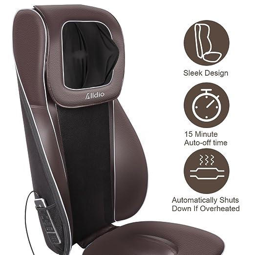 Amazon.com: alldio masajeador de espalda cojín de asiento de ...