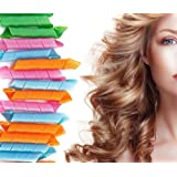 Circle Hair Rollers Curler 20Pcs Mix Size Hair Twist Spiral Styling DIY Tool