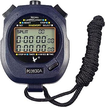 calesi Profesional Digital portátil LCD Deportes Cronómetro Three ...