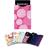 Credit Card Sleeves, I3C Anti Theft Credit Card RFID Blocking Sleeves Protector Passport Holder Sleeves 5 Credit Card Sleeves, 1 Passport Sleeves