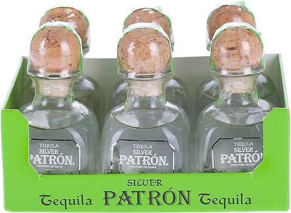 Patron Tequila Premium Silver Miniatura - Pack de 6 x 50 ml ...