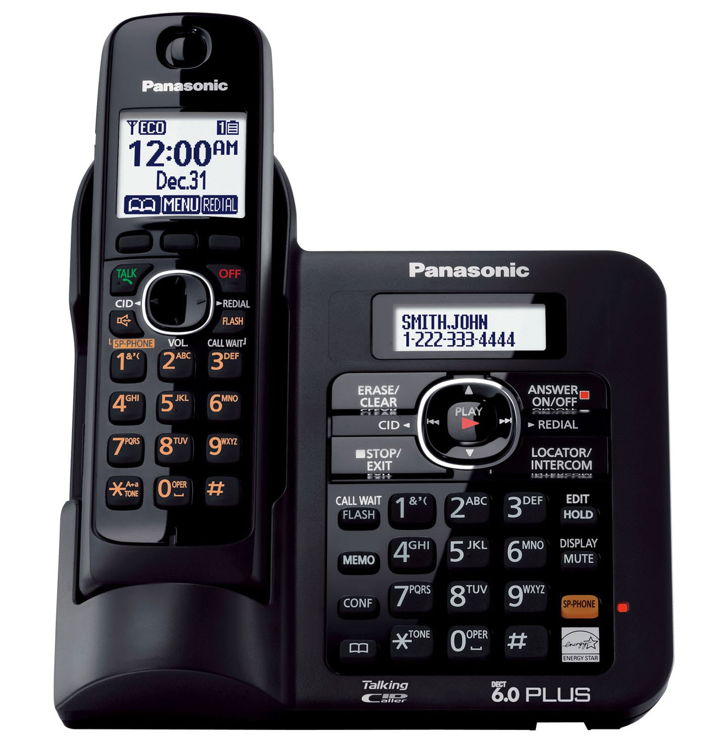 amazon com panasonic kx tg6645b dect 6 0 cordless phone with rh amazon com
