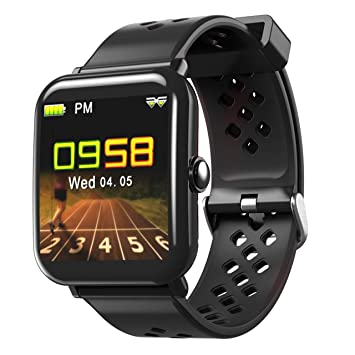 Reloj Inteligente, Bluetooth Deportes Smart Watch/Continuous Heart Rate Monitoring/Fitness Tracker Shake a Photo/Podómetro/Samsung/Huawei y Otros Compatible ...