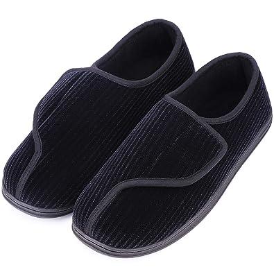 Swell Longbay Mens Memory Foam Diabetic Slippers Comfy Warm Plush Fleece Arthritis Edema Swollen House Shoes Interior Design Ideas Ghosoteloinfo