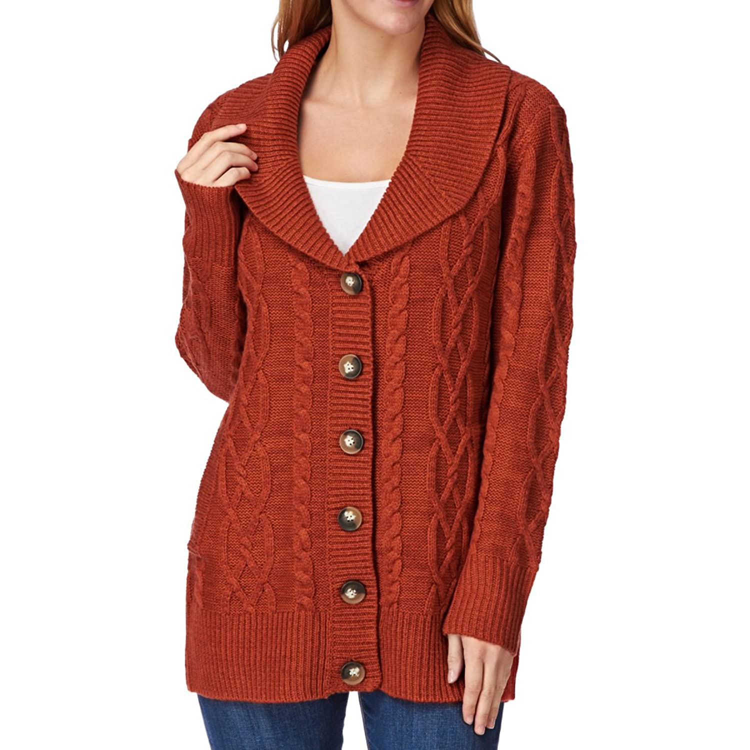 80%OFF Animal Women's Chunky Knit Button Up Cardigan - blu.ecigs.com