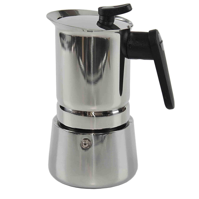 Pedrini - Cafetera de Acero Inoxidable para inducción (6 Tazas ...