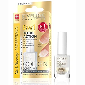 EVELINE 8 IN 1 TOTAL ACTION INTENSIVE NAIL CONDITIONER GOLDEN SHINE 12ml