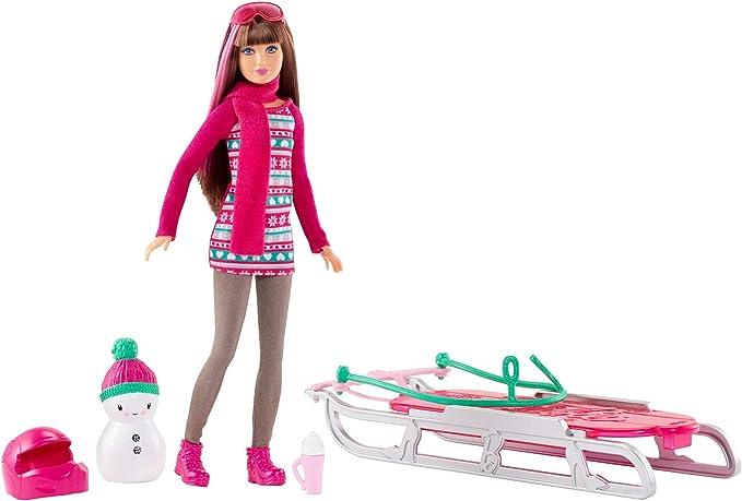 Amazon.es: Mattel Barbie Hermanas de Trineo diversión: Juguetes y ...