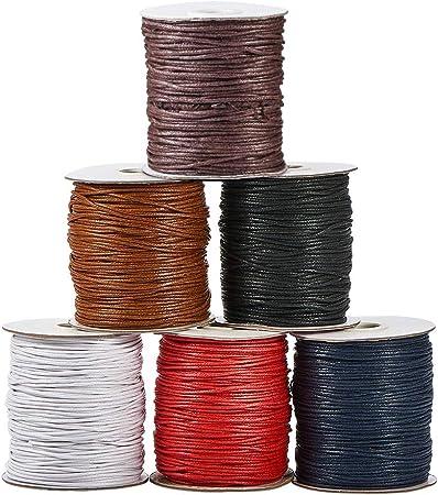 Pandahall Elit - 6 Rollos de Hilo de algodón Encerado de 1,5 mm ...